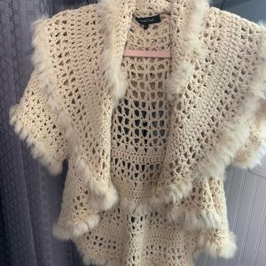 Vintage Shawl with sleeves